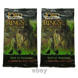 2 x SEALED PACKS THE LORD OF THE RINGS ENTS OF FANGORN TRADING CARD GAME