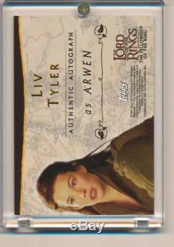 2001 Topps Lord Of The Rings LIV Tyler Autograph Auto Arwen Auto Actor Aa449