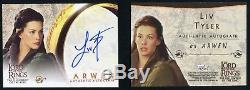 2001 Topps Lord of The Rings Fellowship LOTR Liv Tyler Arwen Autograph Auto Card