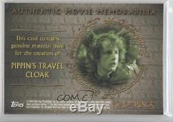 2001 Topps The Lord of the Rings Fellowship Ring #N/A Pippin's Travel Cloak 0i0