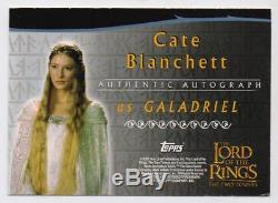 2002 Lord Of The Rings The Two Towers Galadriel Cate Blanchett Autograph Card