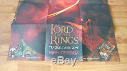 2002 Lord of the Rings Mines of Moria Trading Card Game Store Promo Poster POS