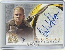 2002 Lord of the Rings The Two Towers ORLANDO BLOOM Autograph Card LEGOLAS