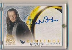 2002 Topps Lord Of The Rings John Noble Autograph Auto Denethor Actor Aa459