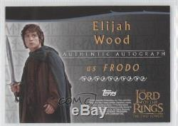 2002 Topps The Lord of the Rings Two Towers #ELWO Elijah Wood as Frodo Auto 3v3
