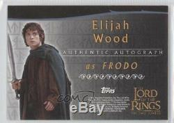 2002 Topps The Lord of the Rings Two Towers #ELWO Elijah Wood as Frodo Auto e6y