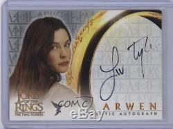 2002 Topps The Lord of the Rings Two Towers #LITY Liv Tyler as Arwen Auto 0ge