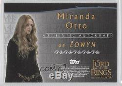 2002 Topps The Lord of the Rings Two Towers #MIOT Miranda Otto as Eowyn Auto e6y