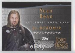 2002 Topps The Lord of the Rings Two Towers #SEBE Sean Bean as Boromir Auto 3v3