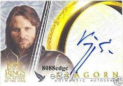 2003 Lord Of The Rings Return Of King Auto Viggo Mortensen-autograph Bgs 9 Mint