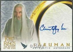 2003 Topps Christopher Lee Saruman Auto Card Lord Of The Rings