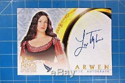 2003 Topps Lord Of The Rings LIV Tyler As Arwen Authentic Autographed Card