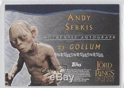 2003 Topps Lord of the Rings Return King #ANSE Andy Serkis as Gollum Auto e6y