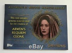 2004 Topps The Lord Of The Rings Ttt Arwens Requiem Cloak Swatch Relic Patch