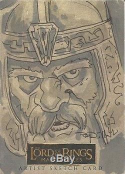 2006 LORD OF THE RINGS MASTERPIECES 1 SKETCH by RAY DILLON of Gimli