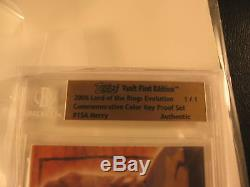 2006 Topps Vault Lord of the Rings Proof #15A BGS 1/1