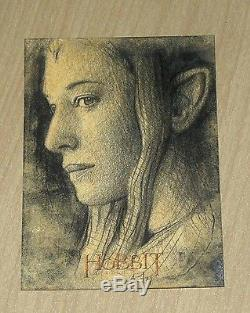 2014 Cryptozoic Hobbit Unexpected Journey LOTR SKETCH card Andy Fry GALADRIEL /1