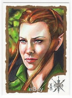 2016 Hobbit Battle of the 5 Five Armies Veronica O'Connell Sketch Card TAURIEL