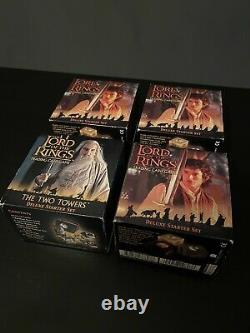 4 X LORD OF THE RINGS TRADING CARD GAME DELUXE STARTER SET 2001 Rare Collectors