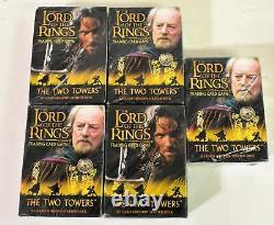 5 packs Lord of the Rings LOTR Two Towers Trading Card Game New Sealed
