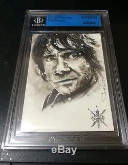 Bgs Hobbit Battle Of The Five Armies Sketch Card Of Bilbo By David Desbois 1/1