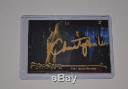 CHRISTOPHER LEE Signed Lord of the Rings Two Towers Dealer Promo Card Autograph