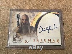 Christopher Lee as Saruman 2001 Topps Lord of the Rings LOTR Autograph Card Auto