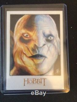 Cryptozoic The Hobbit Sketch An Unexpected Journey Azog by Tim Proctor 1/1