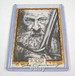 Der Hobbit Joe Corroney Gandalf Kunst Sketch Karte 1/1 Selten Lord Of The Rings
