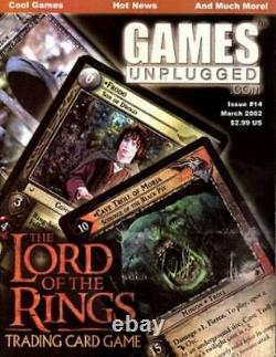 Dynasty Games Unplugged #14 Lord of the Rings Trading Card Game VG+