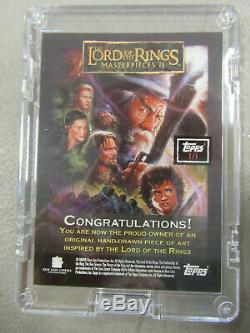 GALADRIEL Lord of the Rings Masterpieces II ARTIST SKETCH CARD 1/1 Propst ZQ