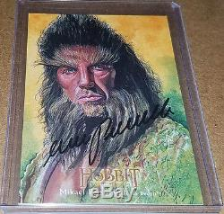 Hobbit Desolation of Smaug MIKAEL PERSBRANDT as Beorn Illustrated autograph /25
