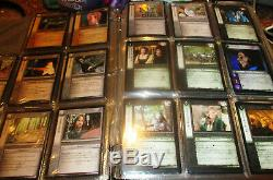 Huge Lot of Lord of the Rings Trading Card Game-35 pages of cards