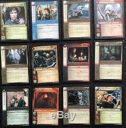 LORD OF THE RINGS 100 Trading Card Game Cards, Incomplete Set, Decipher, 2002