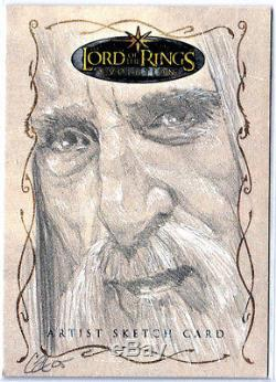 LORD OF THE RINGS LOTR EVOLUTON SKETCH CARD SARUMAN by CAT STAGGS