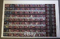 LORD OF THE RINGS TWO TOWERS Full Uncut Sheet of 90 Trading Cards by TOPPS