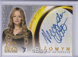 LORD OF THE RINGS TWO TOWERS MIRANDA OTTO (Eowyn)Topps autograph trading card
