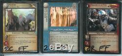 LOTR CCG TCG Mines Of Moria FOIL Set FRENCH