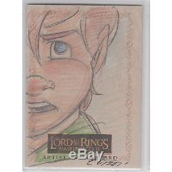 LOTR Lord of The Rings Masterpieces 2 II Colour Color Sketch Card NICE
