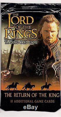 LOTR Lord of The Rings TCG Return of The King Booster Box + Free Pack to Open