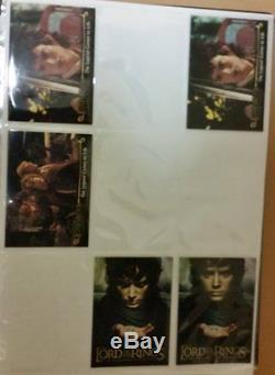 LOTR Lord of the Rings FOTR Fellowship set + update auto foil sticker preview