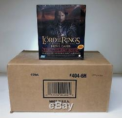 LOTR Lord of the Rings Return of the King Update Sealed CASE of 4 Hobby Boxes
