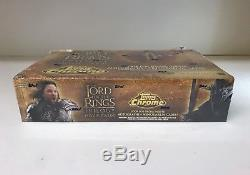 LOTR Lord of the Rings Trilogy Chrome Sealed Trading Card Hobby Box Topps 04