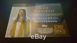 LOTR RARE 2002 Topps Autograph Cate Blanchett Galadriel The Two Towers MINT