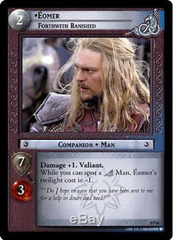 LOTR TCG 0P66 Eomer Forthwith Banished Exclusive Decipher Store Promo Card
