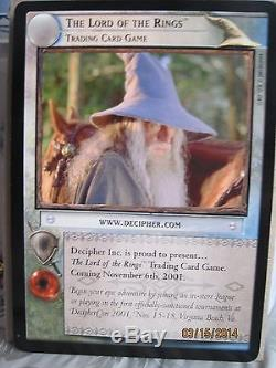 LOTR TCG Gandalf Orc Double Oversize 5x7 First Promo Card NO NUMBER NM/M
