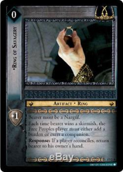 LOTR TCG RISE OF SARUMAN RING OF SAVAGERY FOIL 17O8 Top Shelf Card