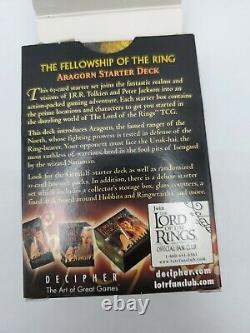 LOTR Trading Card Game 63 Cards The Fellowship of the Ring Aragorn Starter deck