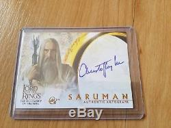 Lord Of The Rings Christopher Lee Signed Fellowship Topps Card
