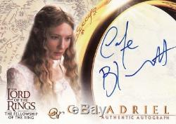 Lord Of The Rings Fellowship Of The Ring trading cards Cate Blanchett Autograph